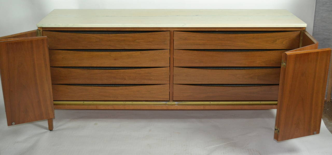 Paul McCobb Eight Drawer Walnut Dresser Is Part Of McCobbu0027s Irwin Line  Manufactured By Calvin Furniture
