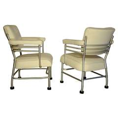 Warren McArthur Two Club Chairs, circa 1938