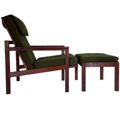 Adjustable Lounge Chair & Ottoman Arden Riddle (1921-2011) 1968