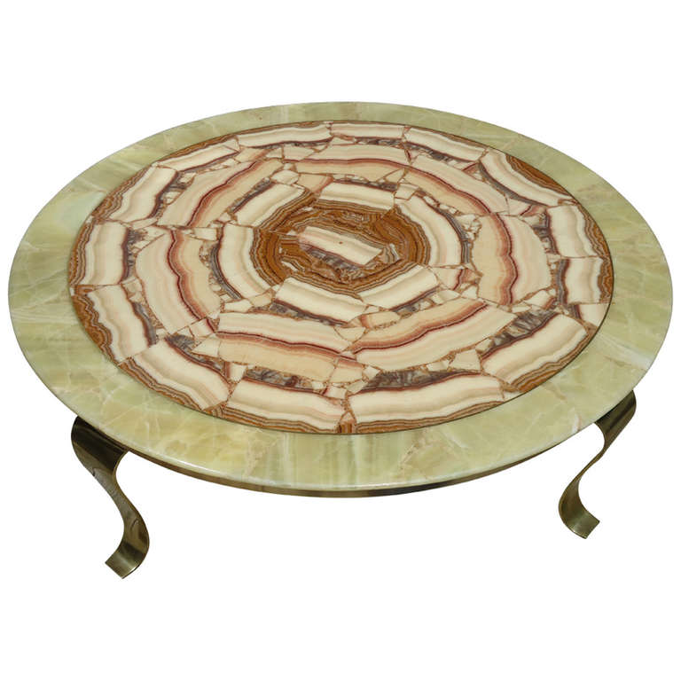 Muller Onyx Top Arturo Pani Coffee Table, Mexico, Circa 1960 1