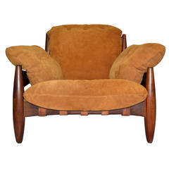 Sergio Rodrigues Midcentury Rosewood Mole / Sheriff Chair, Brazil, circa 1962