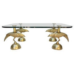 Rare Mid-Century Cast Bronze Coffee Table Styled After Armand Rateau