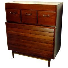 American Martinsville Walnut Dresser, circa 1955
