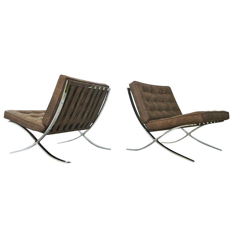 Newly upholstered 1970s Barcelona Style Chairs For Sale at 1stdibs
