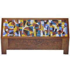 Dramatic Mosaic Headboard from 1963 by Dorothy Thurman