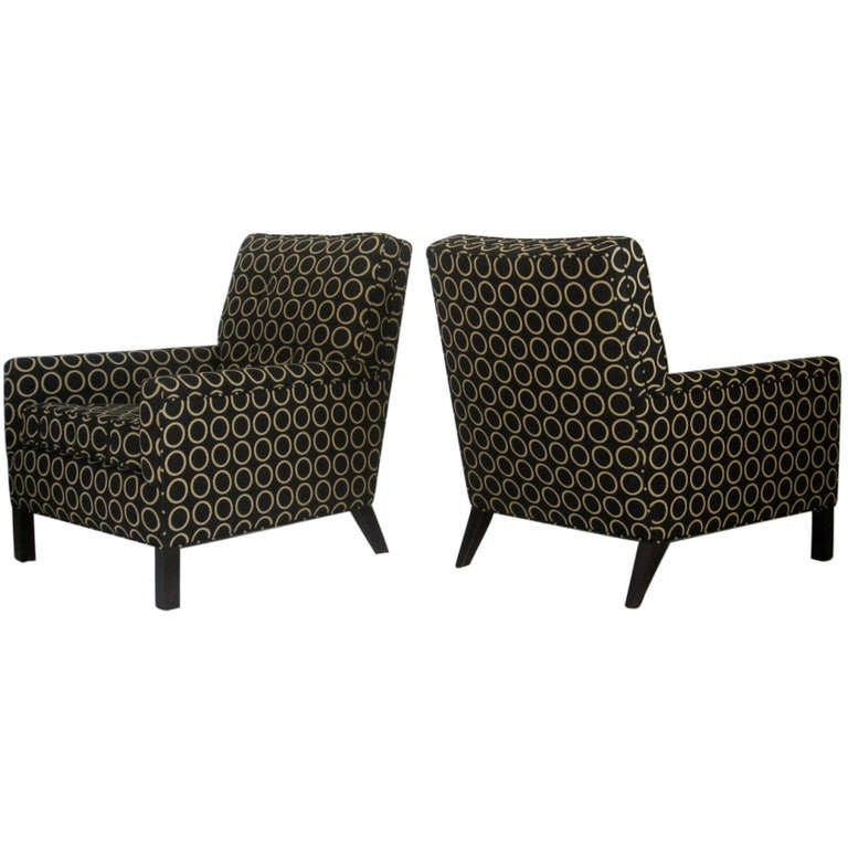 Pair of Lounge Chairs by T.H. Robsjohn-Gibbings, 1954 for Widdicomb
