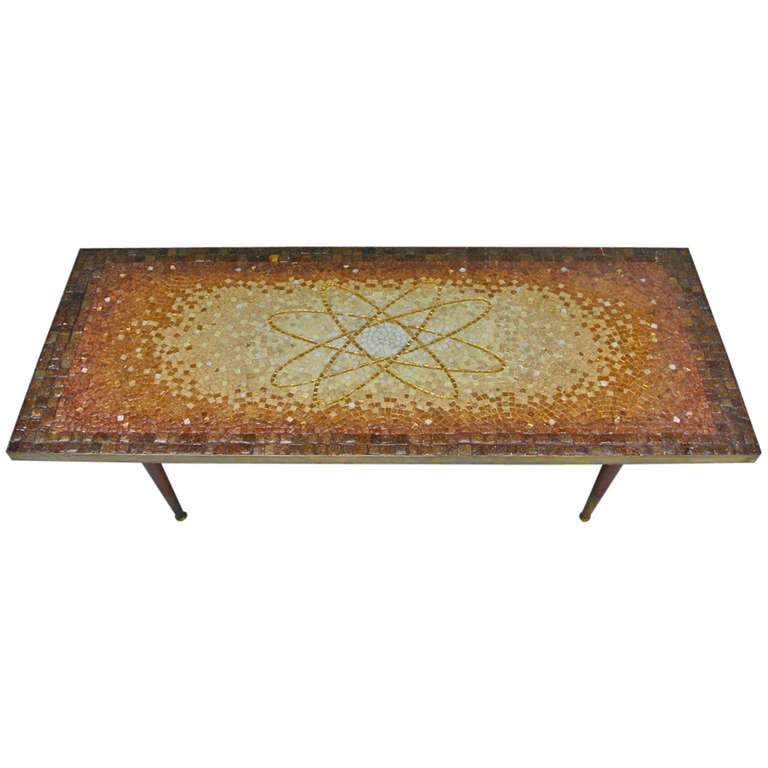 atomic design mosaic tile coffee table by genaro alvarez