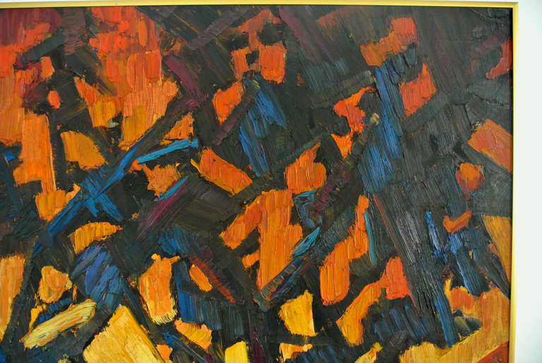 American  Expressionist painting of landscape, titled: