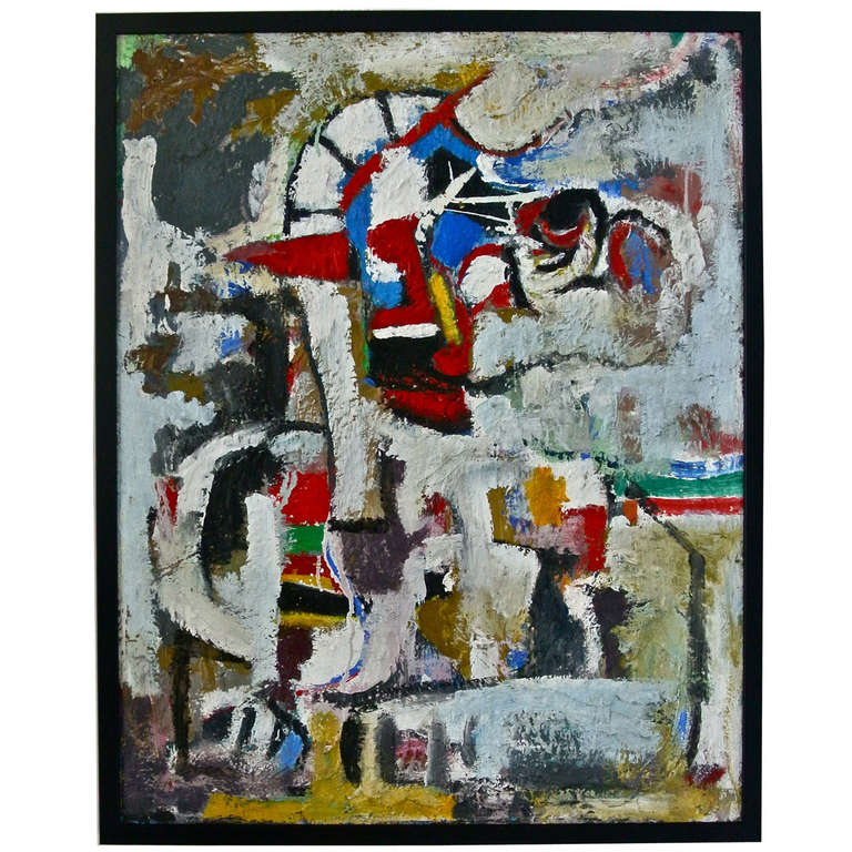 Abstract Painting by DK, circa 1990