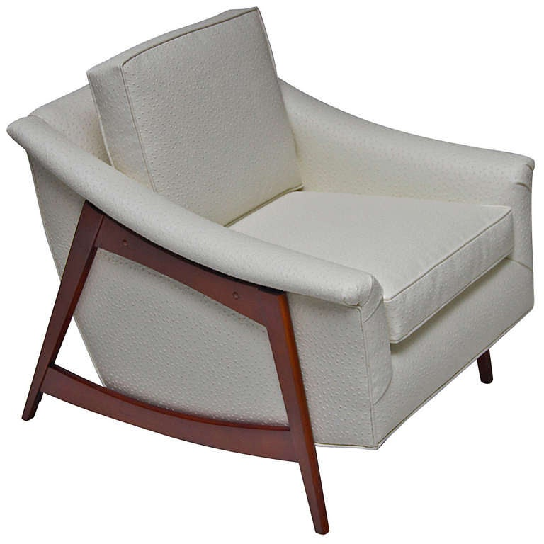 1960s Missoni Wingback Chair At 1stdibs: 1960s Midcentury Lounge Chair With Faux Emu Upholstery At