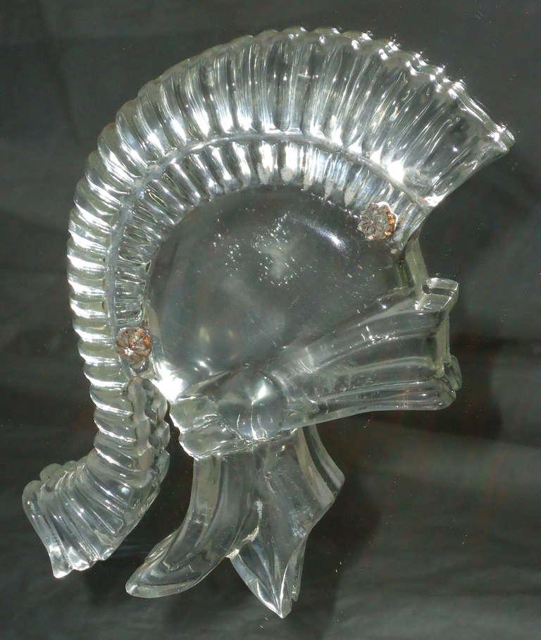 Mid-20th Century Grosfeld House Lorin Jackson Glass Caned Illuminated Mahogany Vitrine circa 1940 For Sale