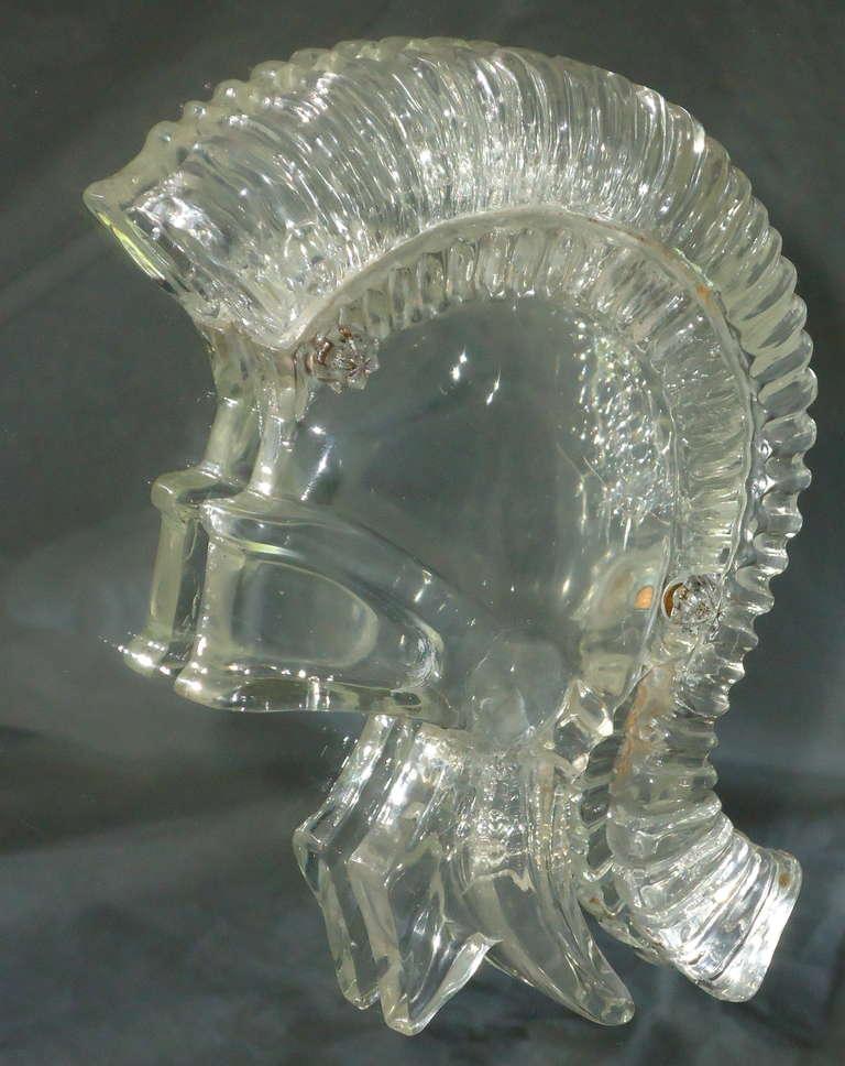 Grosfeld House Lorin Jackson Glass Caned Illuminated Mahogany Vitrine circa 1940 For Sale 1