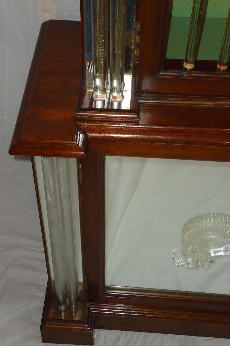 Grosfeld House Lorin Jackson Glass Caned Illuminated Mahogany Vitrine circa 1940 For Sale 2