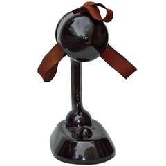 Ribbonaire Bakelite Singer Adjustable Table Top Fan c. 1930