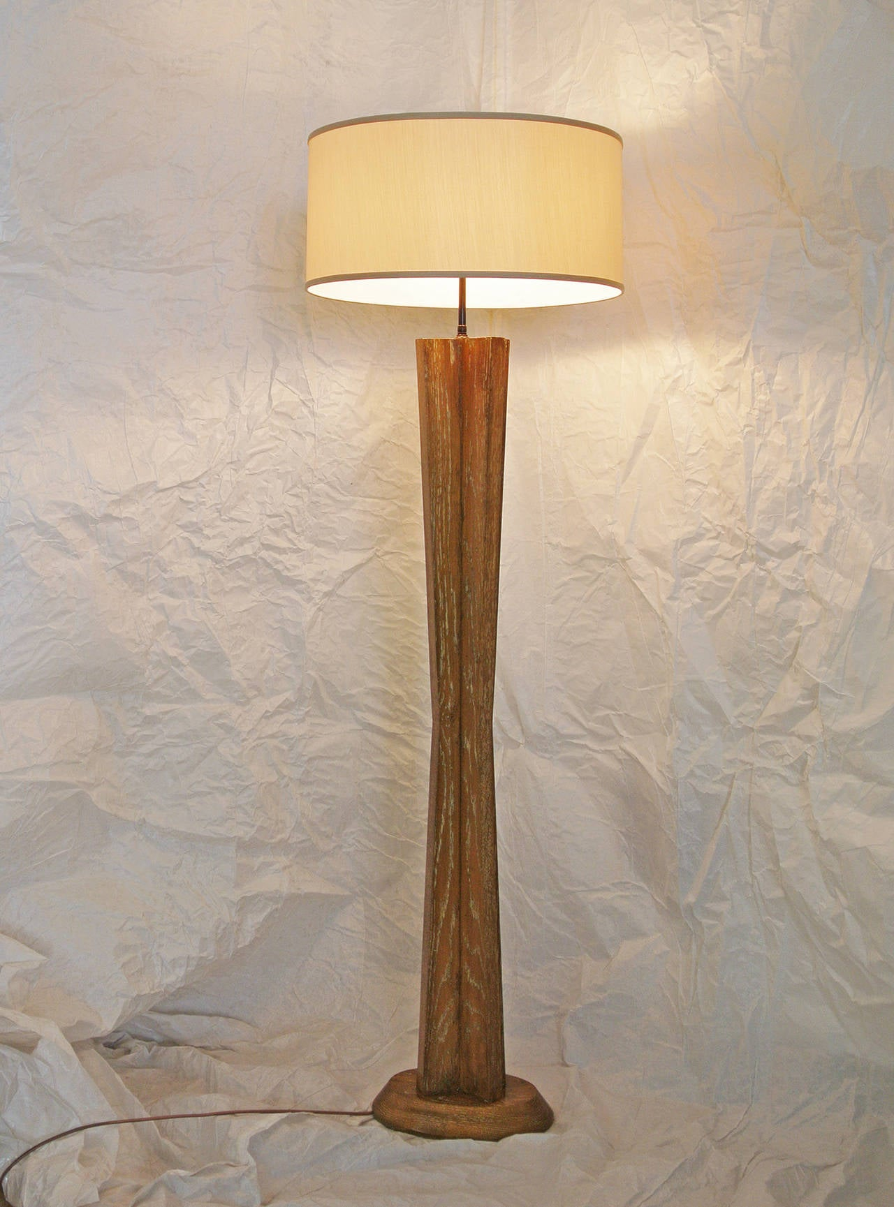Cerused oak californian studio floor lamp in the style of for 1940s hollywood studio floor lamp