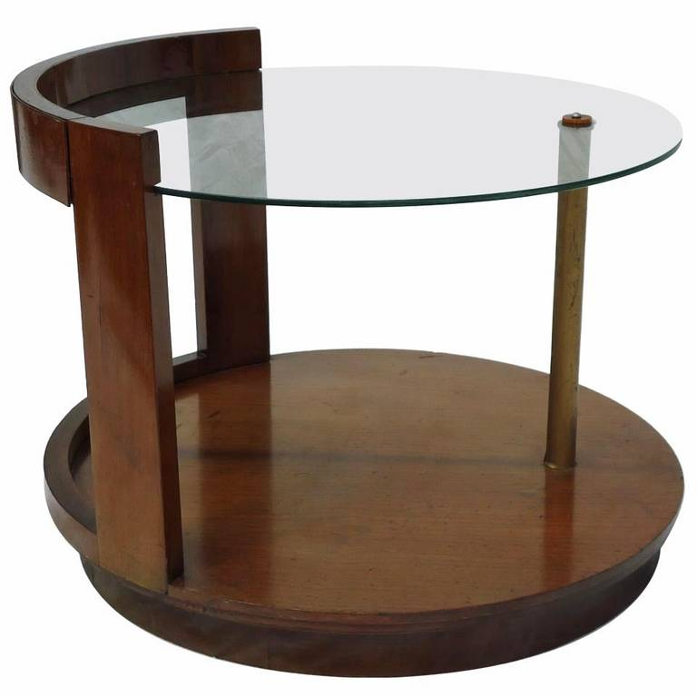 Gilbert Rohde for Herman Miller Art Deco Walnut Cocktail Table, circa 1939