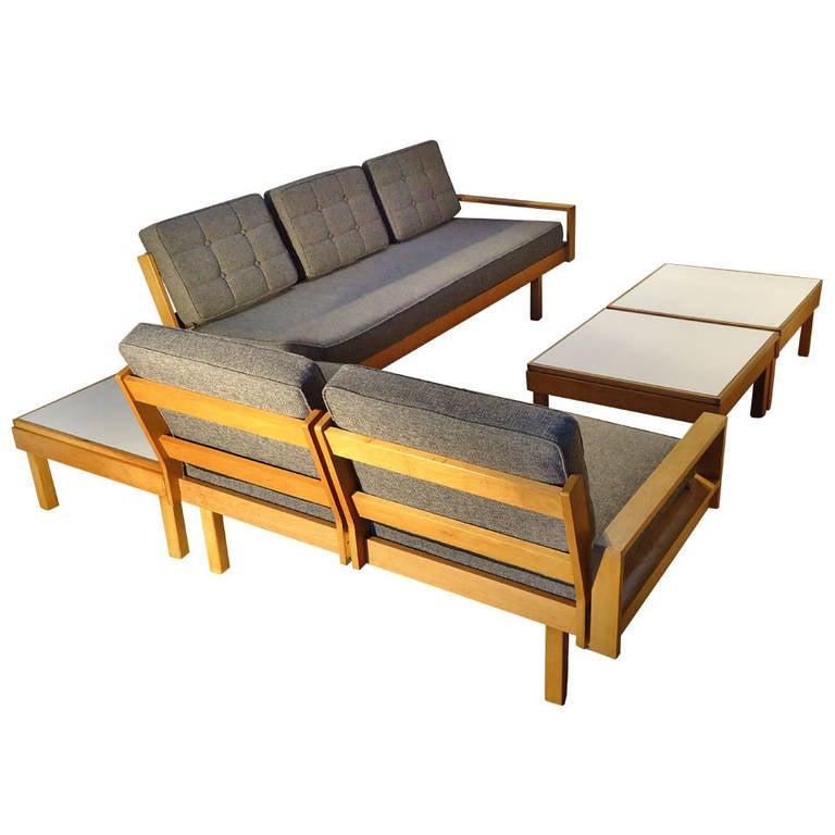 Modular sofas and tables martin borenstein brown saltman for Modular living room furniture