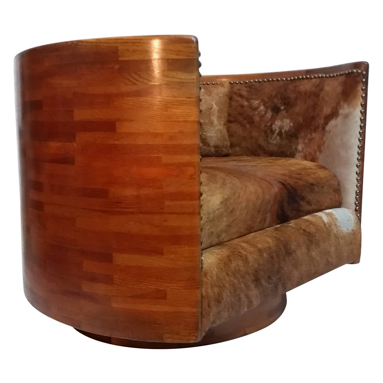 Studio Crafted Swivel Lounge Chair Circa 1974 At 1stdibs