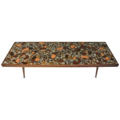 Mosaic Coffee Table Studio Hand Crafted Ceramic Tile Abstract , circa 1958