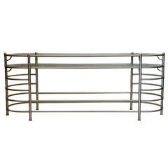 Warren McArthur Anodized Aluminum Console Table Style No. 1549-2, circa 1935