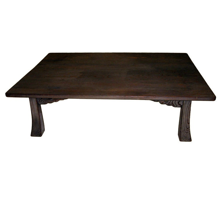Japanese One Plank Sugi Wood Low Table At 1stdibs
