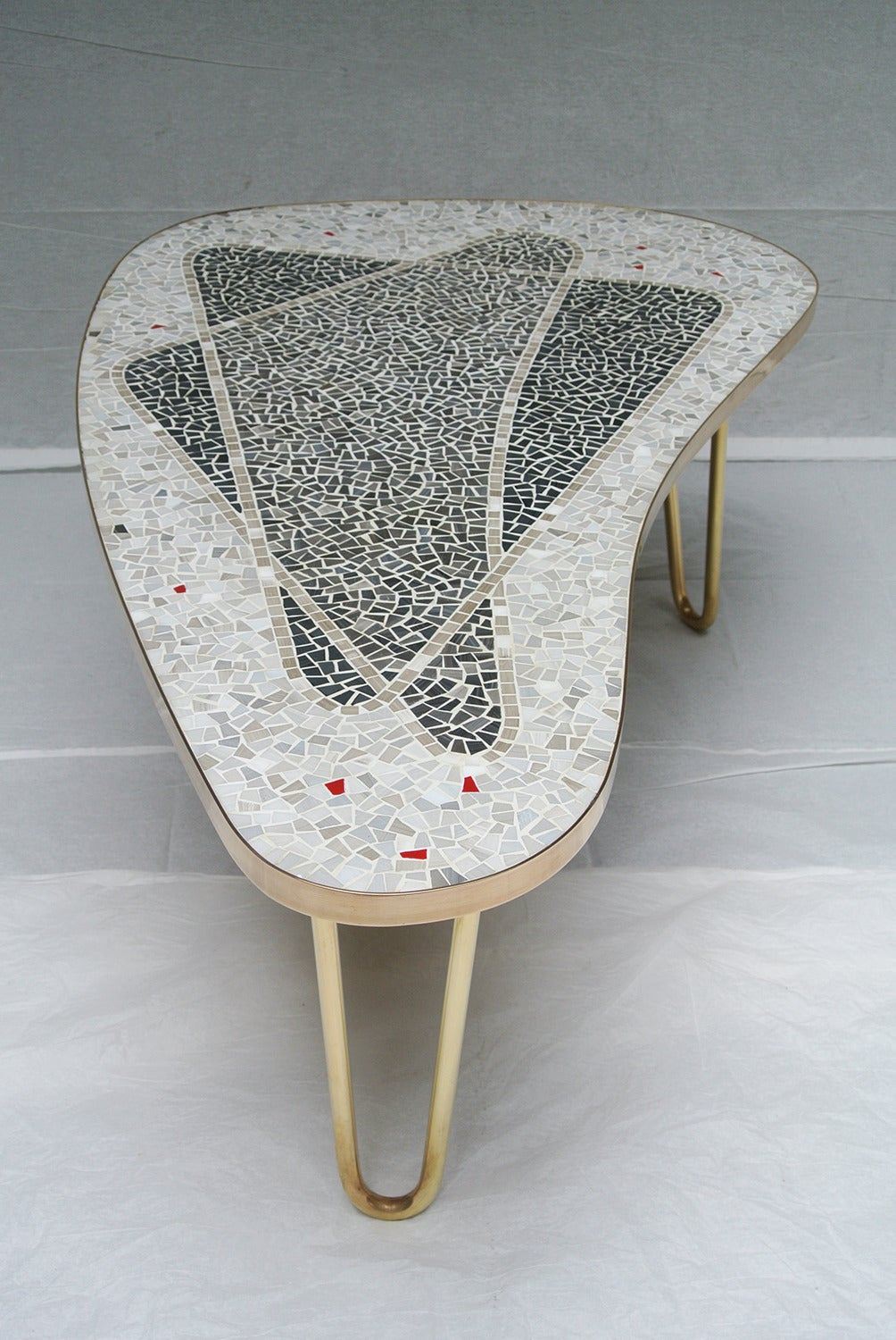 1957 German Mosaic Coffee Table By Berthold Muller At 1stdibs
