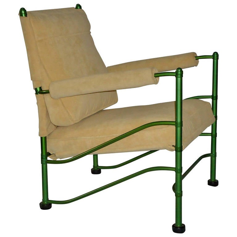 Warren McArthur Rare Green Lounge Chair, circa 1936