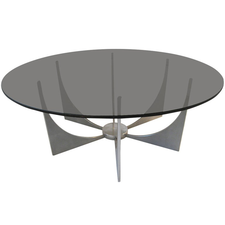 Style of Donald Drumm Aluminium Coffee Table circa 1970 For Sale