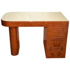 Samuel Marx Maple Burl Desk, circa 1950