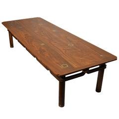 Bert England Walnut Coffee Table Johnson Furniture Co., circa 1960