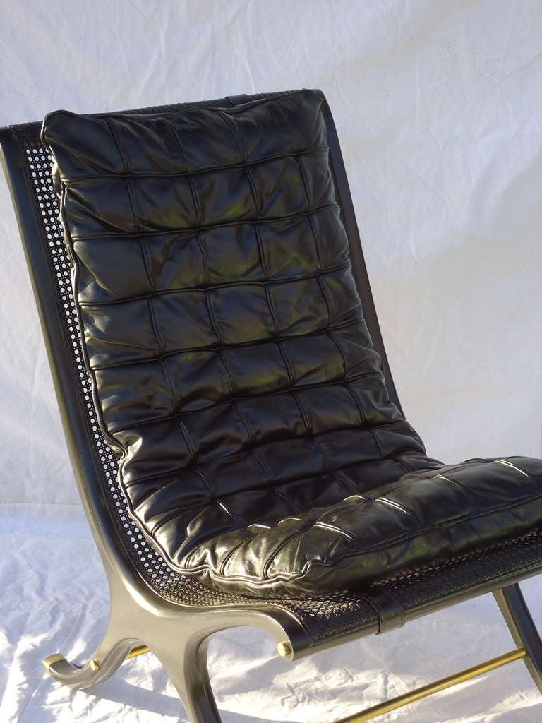 1968 ebony caned lounge chair gerald jerome ca design 10 steel lounge chairs steel frame lounge chairs
