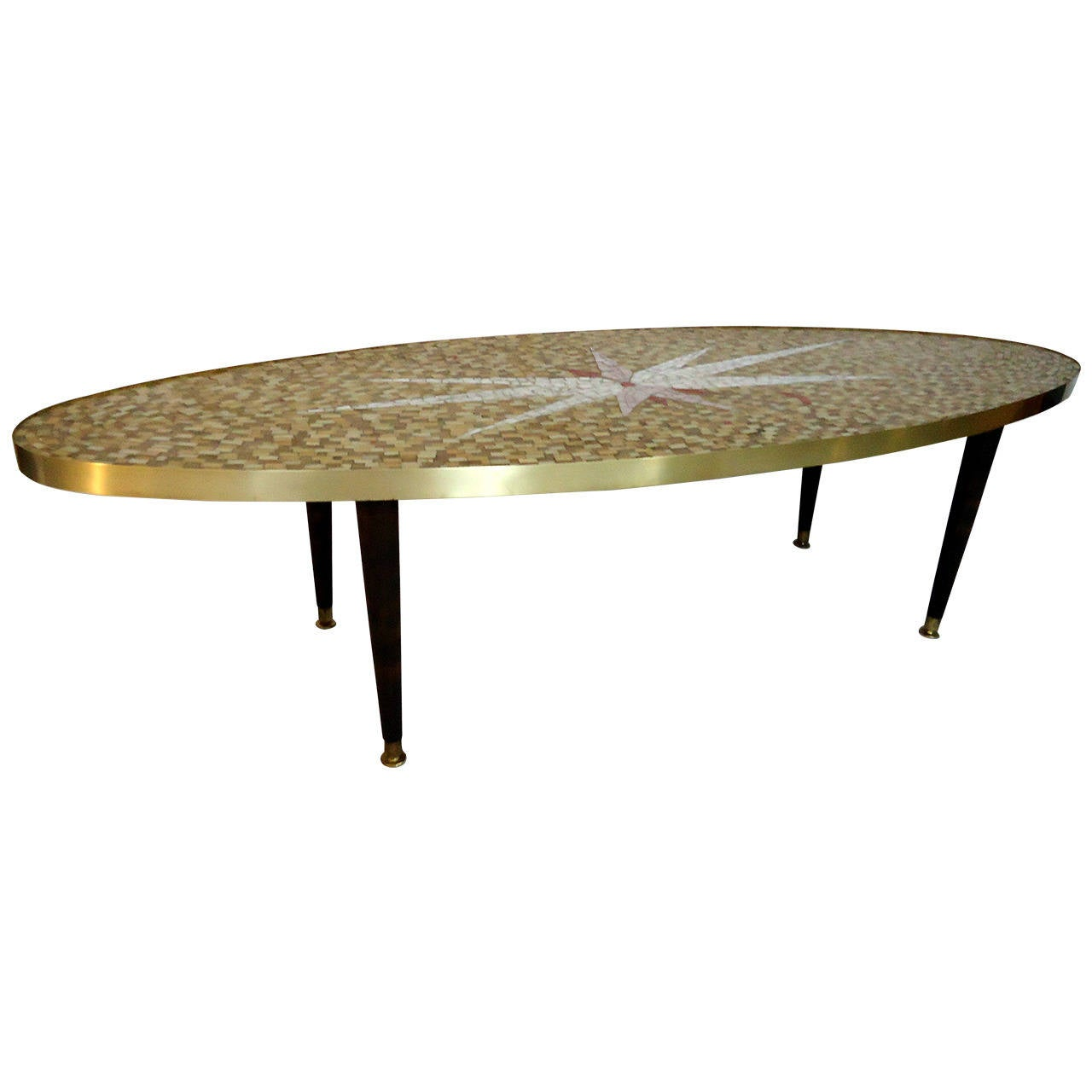 Mid-Century Glass Tile Mosaic Coffee Table, Circa 1960
