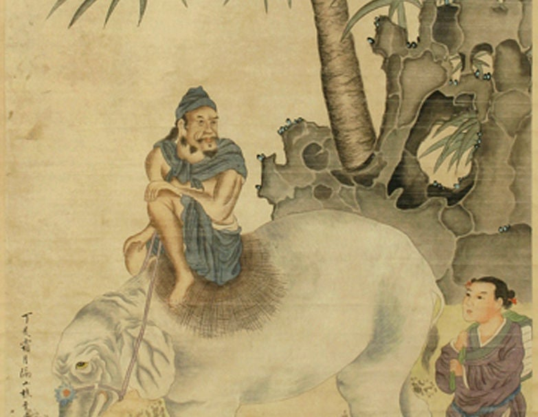 Painted Early 20th Century Chinese Scroll Painting, circa 1920