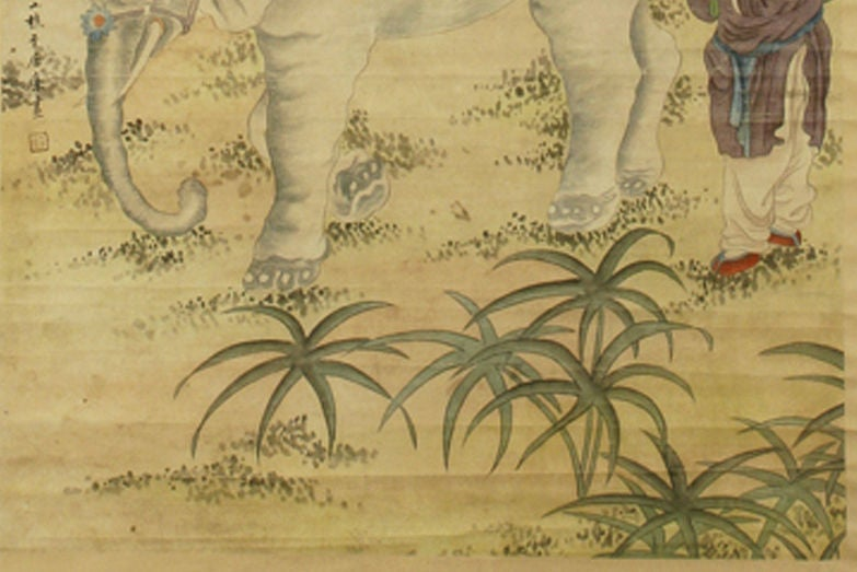 Early 20th Century Chinese Scroll Painting, circa 1920 In Good Condition In Camden, ME