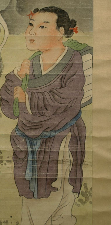 Early 20th Century Chinese Scroll Painting, circa 1920 1