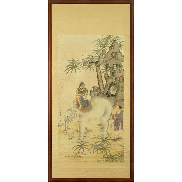 Early 20th Century Chinese Scroll Painting, circa 1920