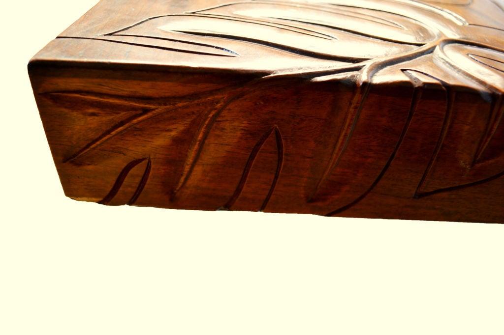 Carved Hawaiian Koa Wood Tropical Deco Coffee Table At 1stdibs