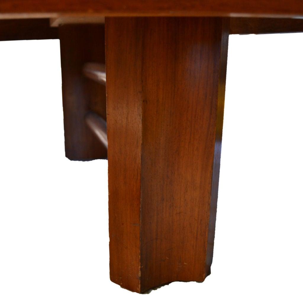 Vintage Mid Century Coffee Table Hawaiian Koa Wood By: Beautifully Carved Hawaiian Koa Wood Tropical Deco Coffee