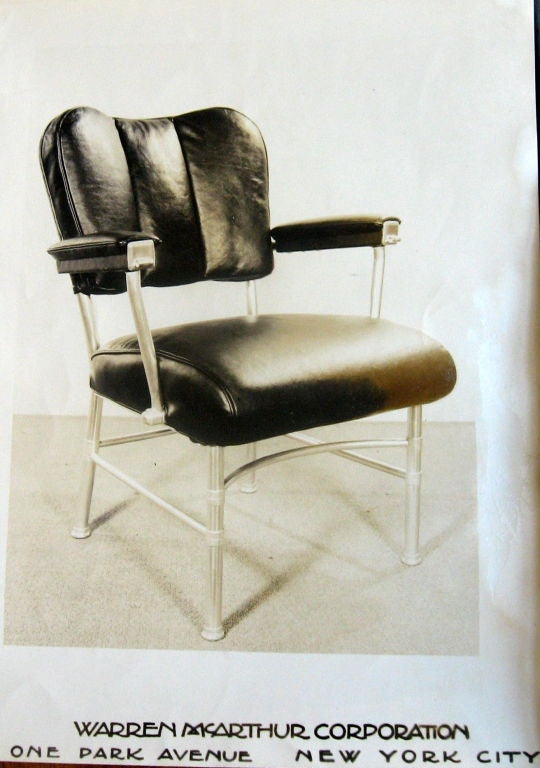 warren mcarthur executive arm chair for chrysler 1947 at
