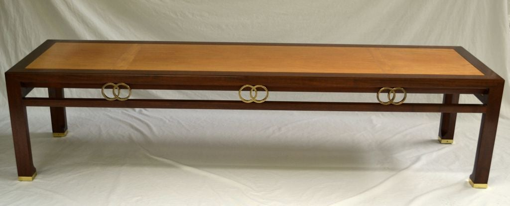 Mid-Century Modern Baker Coffee Table Designed by Michael Taylor 1950's For Sale