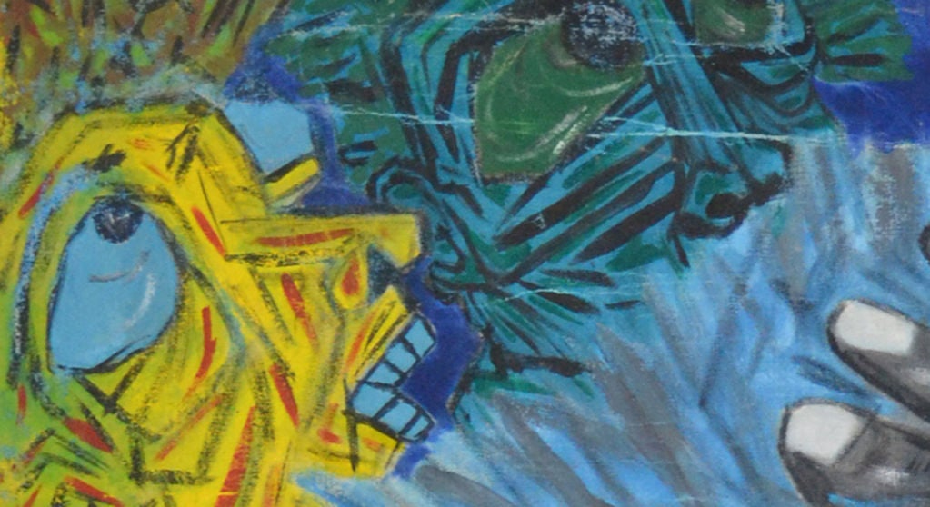 Mexican Homage to Eduardo Kingman - Painting by Crespo Diaz,