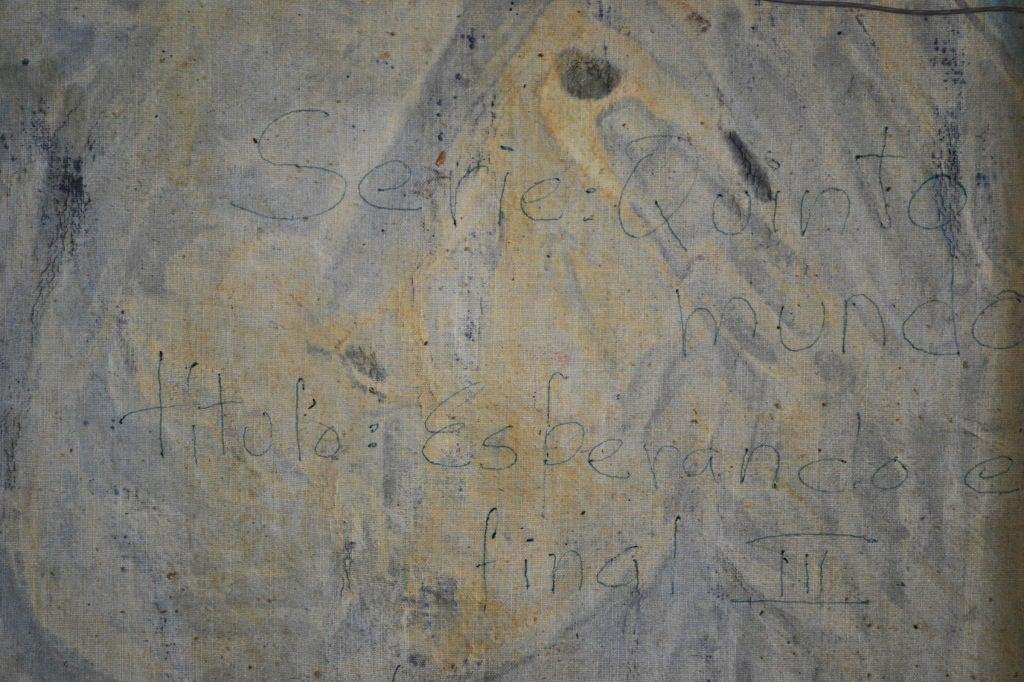 Homage to Eduardo Kingman - Painting by Crespo Diaz,
