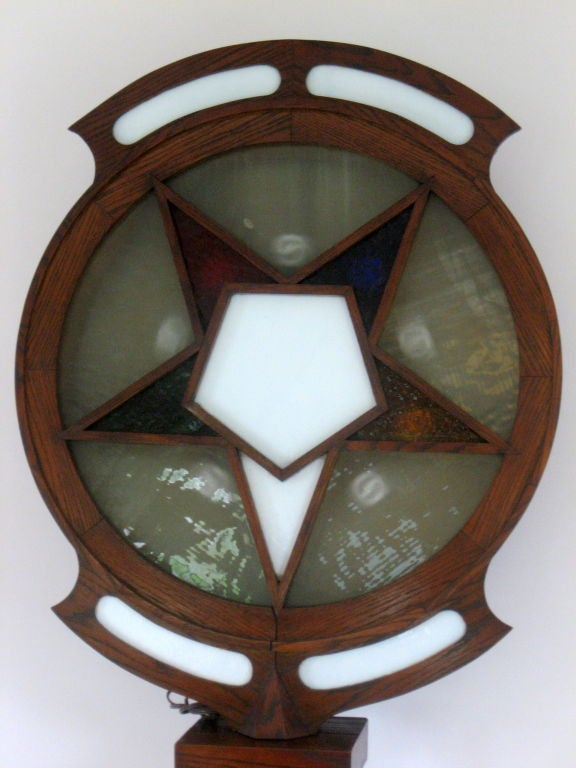 Lighted Sign from an Order of the Eastern Star Lodge dated 1921 7