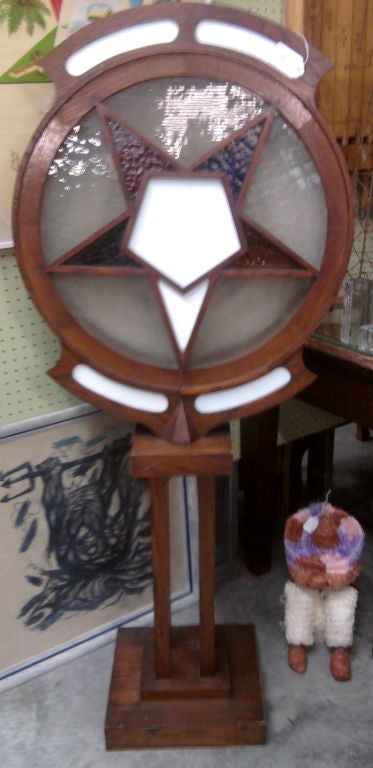 Lighted Sign from an Order of the Eastern Star Lodge dated 1921 2