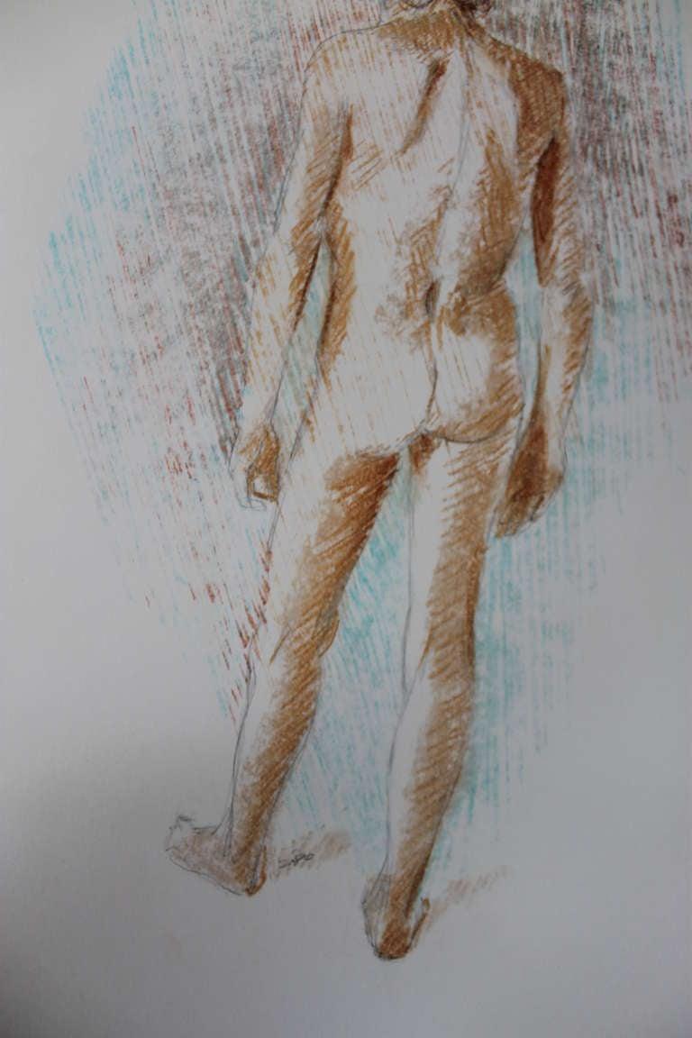 American Faralla Nude Drawing, 1980 For Sale