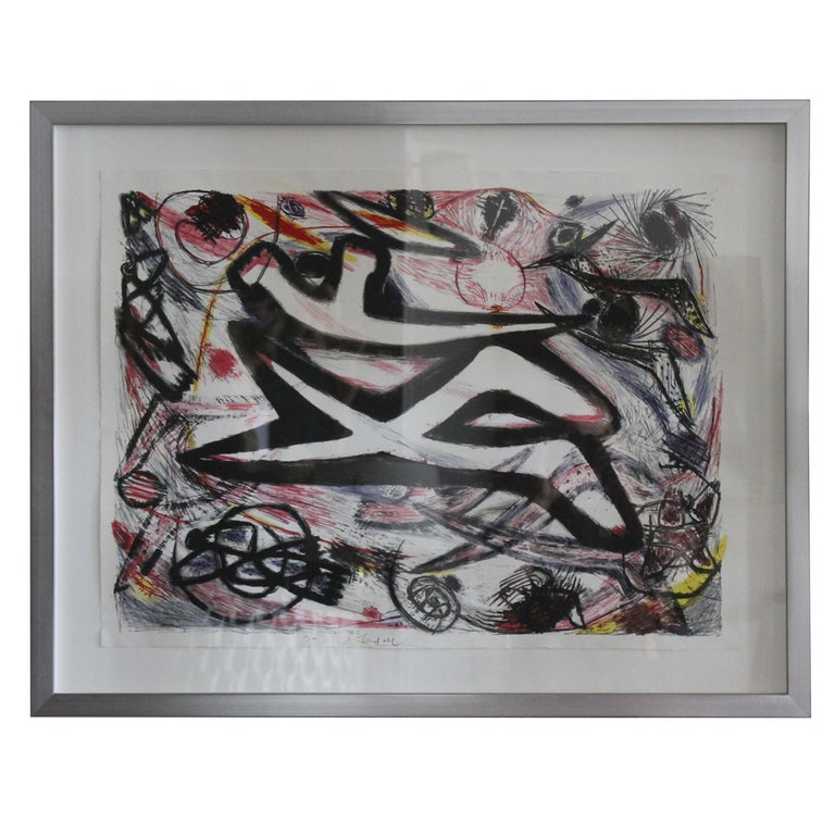 Frank Lobdell Lithograph, 19/100 For Sale