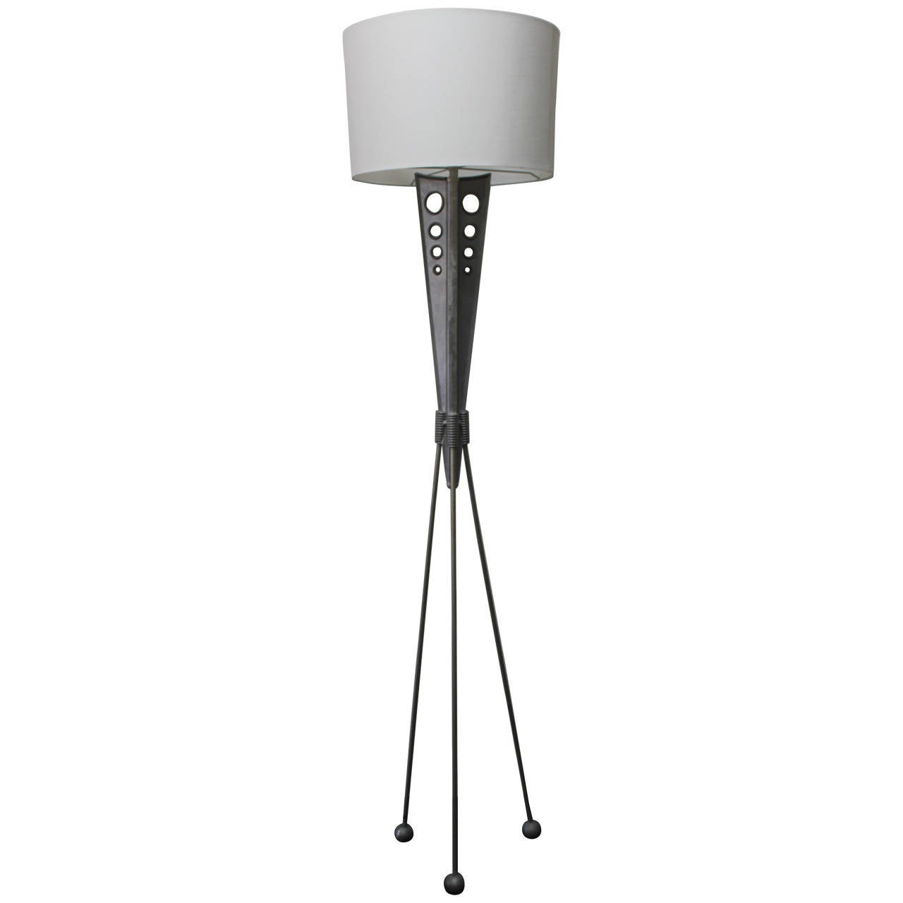 Floor lamp by relux milano italy at 1stdibs for Milano chrome floor lamp