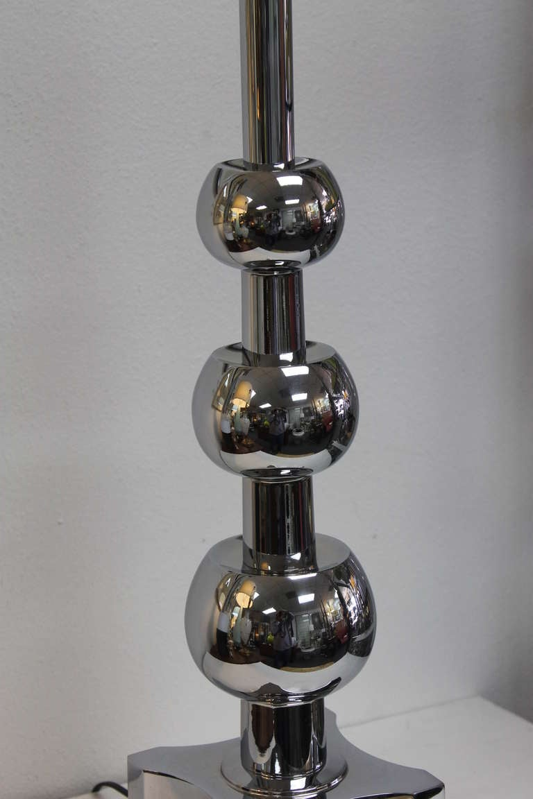 Mid-20th Century Chrome Lamp by Stiffel For Sale