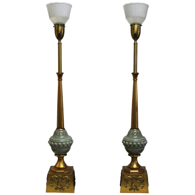 Pair Of Monumental Rembrandt Lamps For Sale