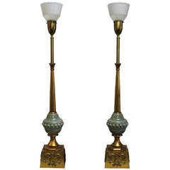 Pair of Monumental Rembrandt Lamps
